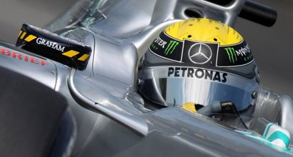 Graham London and Mercedes GP F1 Team